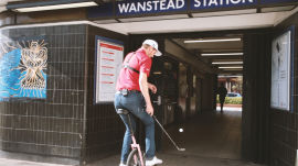 Juggling Golf Balls & Riding Unicycles Through the London Tube