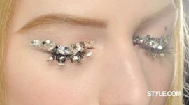 Glittering Beauty, Backstage at Chanel Fall 2013