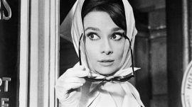 Audrey Hepburn Honors Friend Hubert de Givenchy at His Career Retrospective