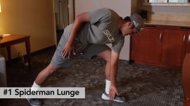 The 2 Minute Hotel Stretch Routine With Tony Finau