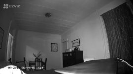 Ezviz security camera night vision sample footage