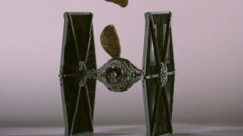 Star Wars Lego TIE Starfighter Gets Smashed by Asteroids