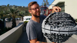 Behind the Scenes: Star Wars Lego Death Star Gets Destroyed with a Baseball Bat