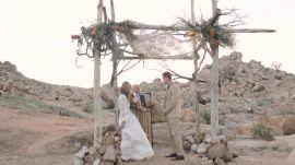 One Couple's Desert Wedding in Pioneer Town, California