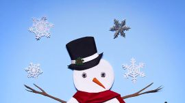A Very Well-Clad Snowman