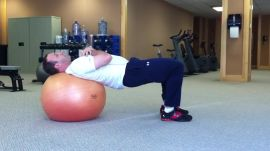 Physio Ball Leg Extensions