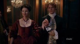 Outlander: Watch an Exclusive Clip of Claire and Jamie Fraser's High-Stakes Dinner Party