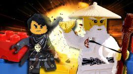 First Look at the New Ninjago Legoland   Giant LEGO NINJAGO Brick Battle!