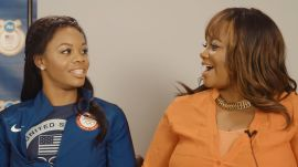 Gabby Douglas and Her Mom Play a Mother's Day Game