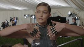 Gigi Hadid on Her Futuristic Bathing Suit and Chrome Knuckles at Met Gala 2016