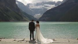 One Couple Exchanged Vows with Stunning Views of Canada's Banff National Park as Their Backdrop