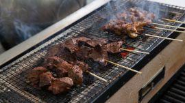 Llama Inn Chef Erik Ramirez Grills Peruvian Anticucho with Binchotan Charcoal