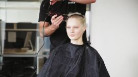 Model Mia Rae Shaved Her Head For a Photoshoot
