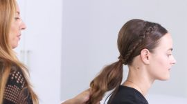 Holiday Hair Tutorial: Crown-Braid Ponytail