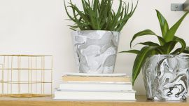 How to Make Marbled Planters