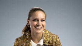 Melissa Benoist Wore a Technicolor Dreamcoat on Her Birthday