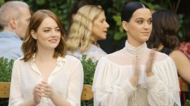Emma Stone & Katy Perry Watch the Creative Final Fashion Show
