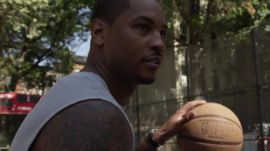 "Watch Carmelo Anthony Play Streetball at NYC's ""The Cage"""