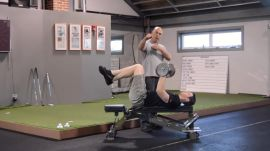 Bench Press And Arm Curls For Golfers