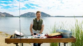 Chris Pratt Cleans and Guts A Fish