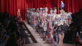 Moschino's Over-the-Top Cardboard Couture