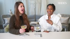 Brides Staffers Try Eating Edible Flowers