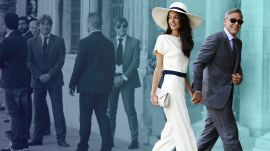 13 Celebrity Brides Who Ditched Traditional Gowns on Their Wedding Days