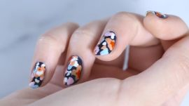 How to Create Polka Dot Petal Nail Art