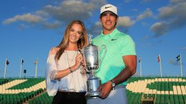 Joe Buck butchers Brooks Koepka's girlfriend's name