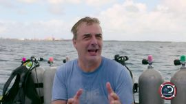 Chris Noth Dives With Sharks