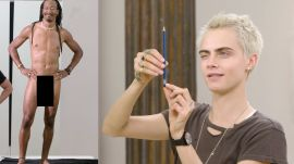 Cara Delevingne Draws Nude Models