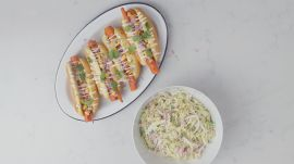 Grilled Carrot Hot Dogs With Creamy Slaw