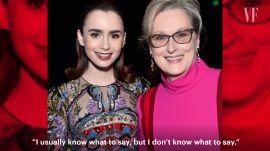 Lily Collins Recalls Her Favorite Celebrity Exchanges
