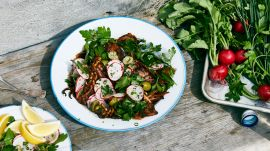 Grilled Squid with Chile Dressing and Herbs