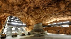 The Stockholm Tunnel Rail is the Longest Art Gallery in the World