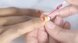 Crescent Rainbow Nail Art