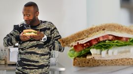 Comedian James Davis Makes a Hood-Adjacent Turkey Sandwich