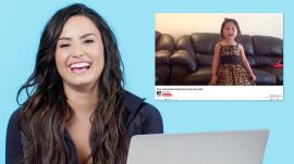 Demi Lovato Watches Fan Covers On YouTube