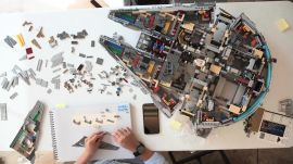 Watch Us Build a 7,500 Piece Lego Millennium Falcon