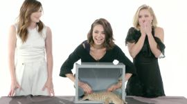 Mila Kunis, Kristen Bell, and Kathryn Hahn Touch a Millipede & Other Weird Stuff