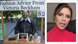 Victoria Beckham Gives Strangers Fashion Advice for $2 in Central Park