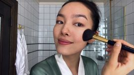 Watch Model Fei Fei Sun Perform Skin-Care Magic