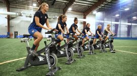 Professional Soccer Players Take a SoulCycle Class—and Try to Keep Up With the Instructors