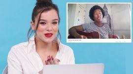 Hailee Steinfeld Watches Fan Covers On YouTube
