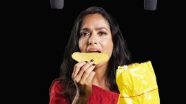 Salma Hayek Explores ASMR with Whispers, Tostadas, and a Paintbrush