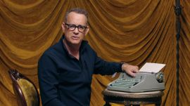Tom Hanks Changes the Ribbon on a Typewriter