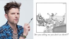 How to Write a New Yorker Cartoon Caption: Adam Scott Edition