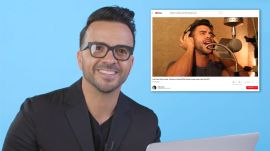 Luis Fonsi Watches Fan Covers On YouTube
