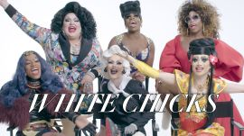 """The Cast of """"RuPaul's Drag Race"""" Review Drag in Film"""