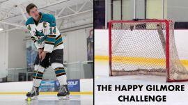 Maverick McNealy Tries The Happy Gilmore Golf Hockey Challenge